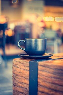 Coffee mug in coffee shop