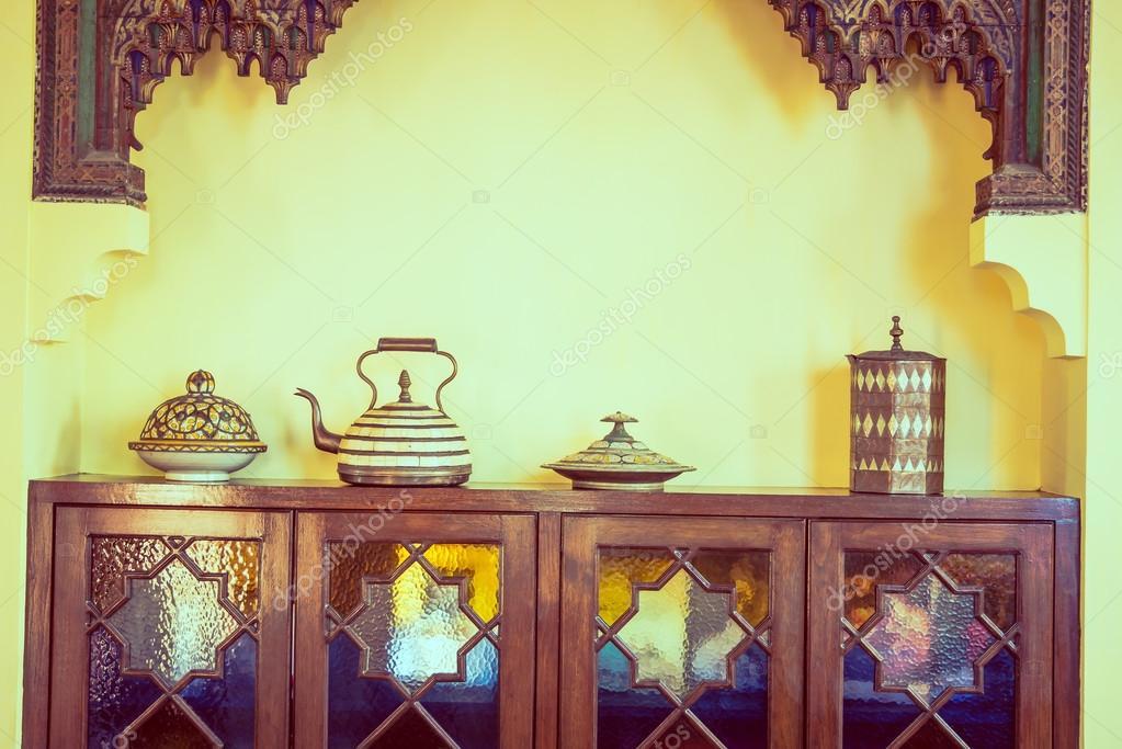 Marokko platforms decoratie u stockfoto mrsiraphol