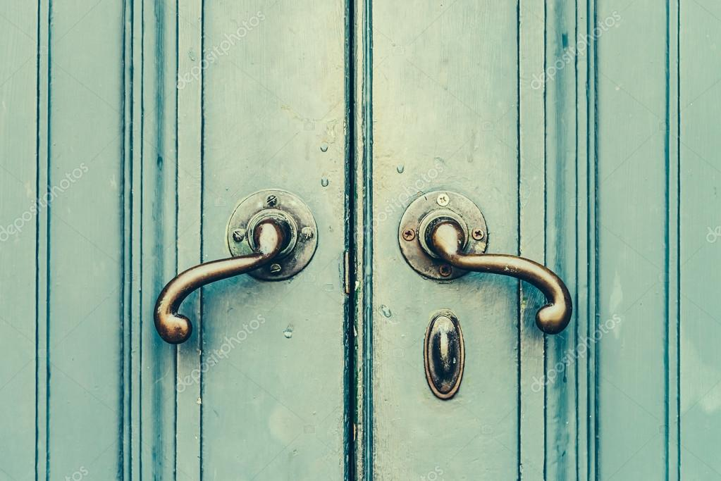 old door knobs u2014 stock photo - Vintage Door Knobs