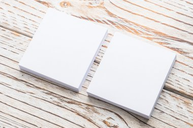 Blank white paper mock up