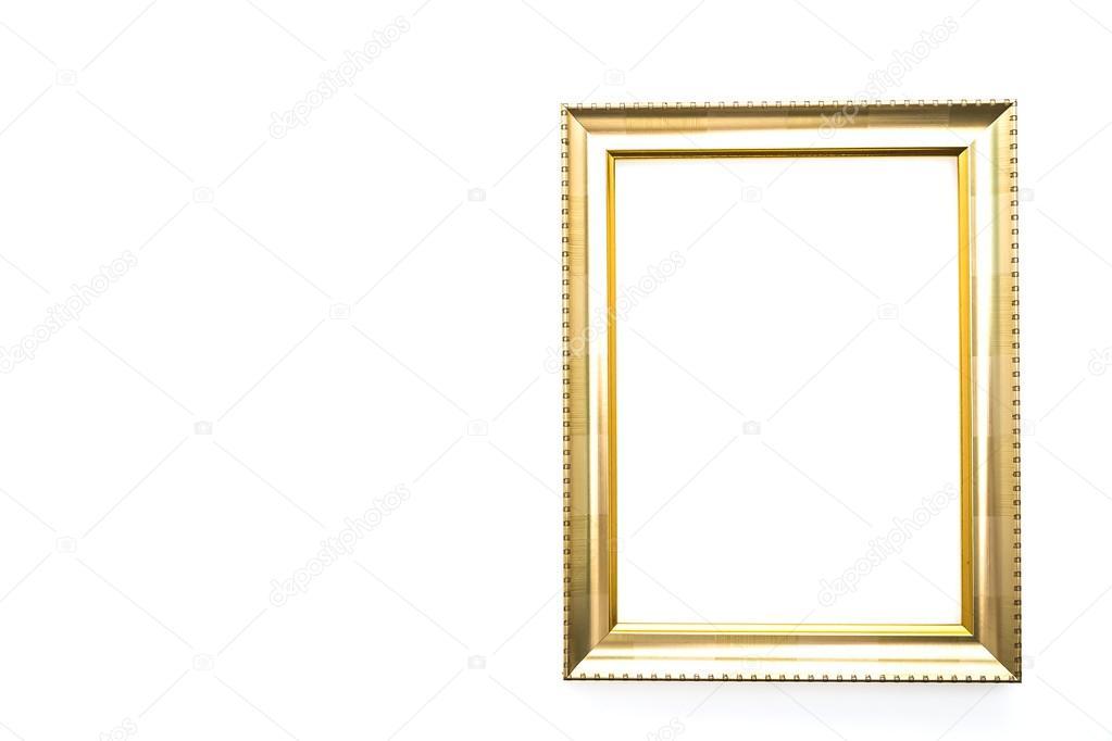 Leere Rahmen in Gold — Stockfoto © mrsiraphol #79984786