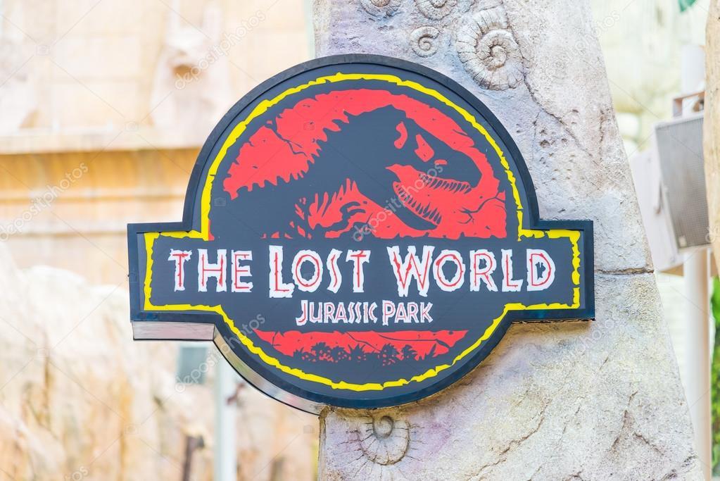 Jurassic Park Tema I Universal Studios Singapore Redaktionell Stockfotografi
