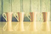 Fotografie Colorful coffee cups