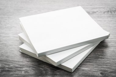 Blank white mock up books