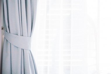 Beautiful curtain in living room