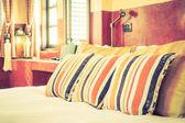 Cuscini in camera da letto con stile Marocco
