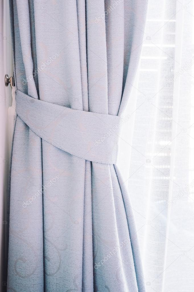 Beautiful Curtains in livingroom — Stock Photo © mrsiraphol ...