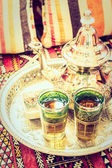 Hot tea with Morocco style