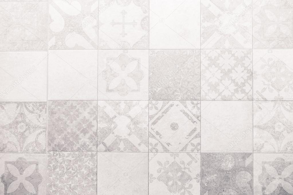 Grigio e bianco piastrelle texture delle pareti u2014 foto stock