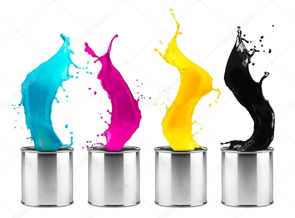 cc8c659be268 πολύχρωμο σειρά splash δόση χρώματος Cmyk — Φωτογραφία Αρχείου ...