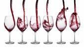 červené víno nalévat řádek