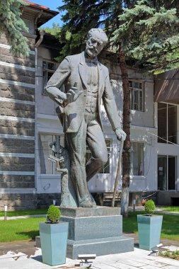 Monument of composer Pyotr Ilyich Tchaikovsky in Borjomi, Georgia