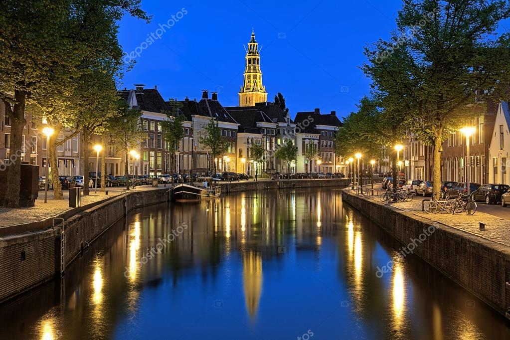Aa 川フローニンゲン、オランダ...