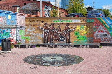The Beatles Monument in Yekaterinburg, Russia