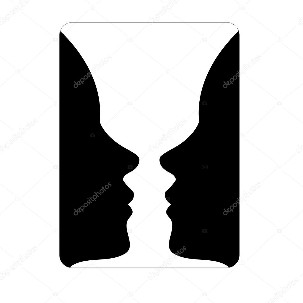 Faces or vase illusion of two faces appearing like a vase stock faces or vase illusion of two faces appearing like a vase stock vector reviewsmspy