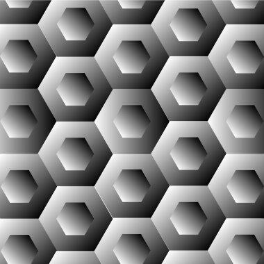 Optical illusion with hexagon