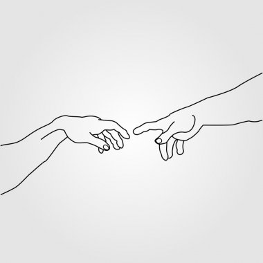 Hands showing the creation of Adam