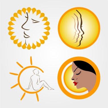 Logos for sun tanning
