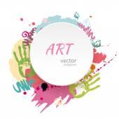 Fotografie Kindlicher künstlerischer Hintergrund