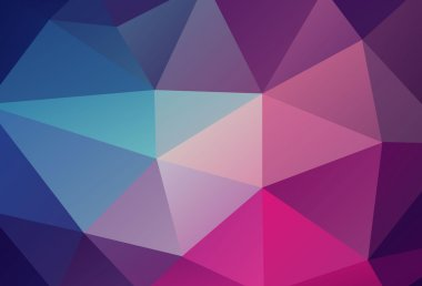 violet blue and pink low poly background vector