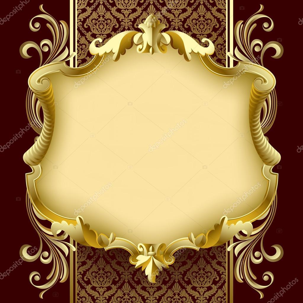 vector  vintage marco dorado