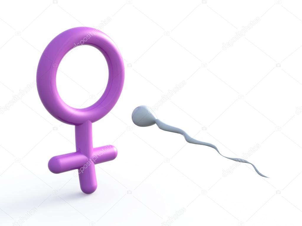 sexual symbol woman and sperm