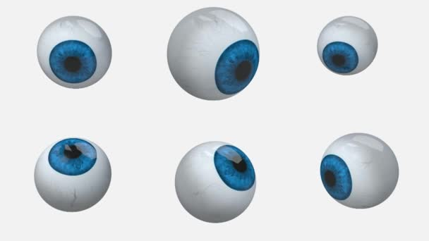 Many blue eyes balls rotation