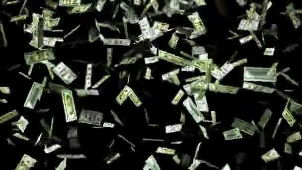 Klesající dolarů z oblohy. Peníze