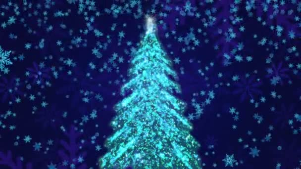Christmas Tree And Snow Background (Loop)