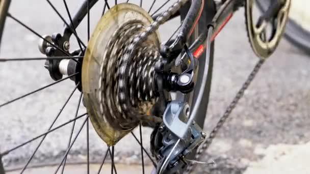 Rotační cyklistické řetězové pedály a ozubená kola otestovat jízdní výkon