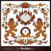 Heraldický lev, prvky sada