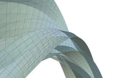 Abstract drawing lines in architectural art concept, minimal geometrical shapes.
