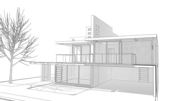 přehled minimálního 3D architektonického projektu