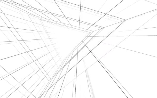 moving through minimal 3d architectural shapes