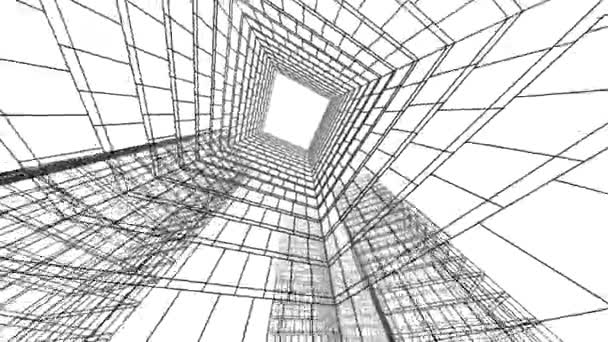 pohyb minimálními 3D architektonickými tvary