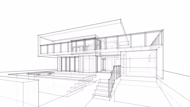 overview of minimal 3d architectural project