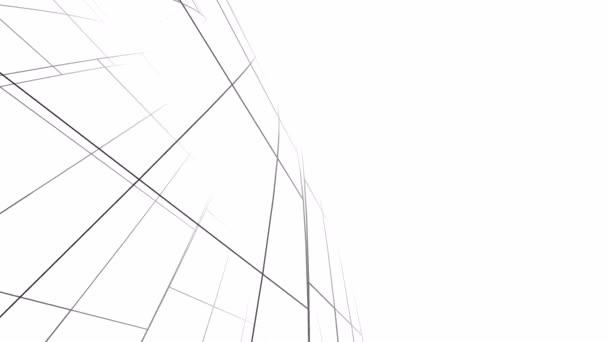 sich bewegende minimale 3D-Architekturformen