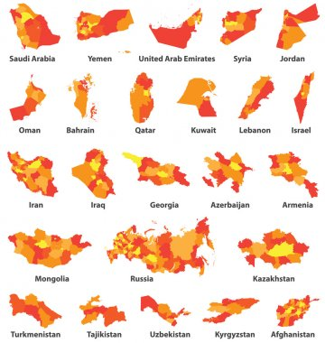 Middle East and Arabic countries maps