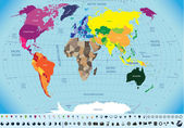 Fotografie Map of the world