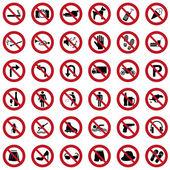 Fotografie Prohibited icons