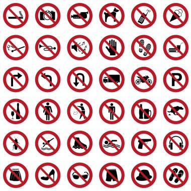 Prohibiton icons