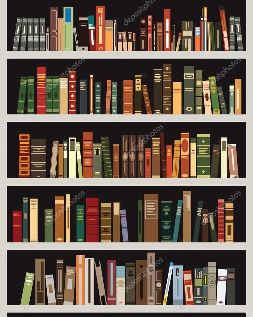 Bookshelf Stock Vector C Jktu 21 81903514