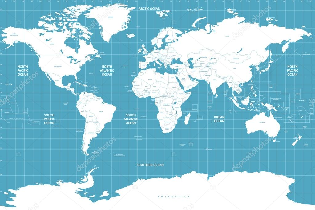 Political world map on soft blue background stock vector political world map on soft blue background stock vector gumiabroncs Gallery
