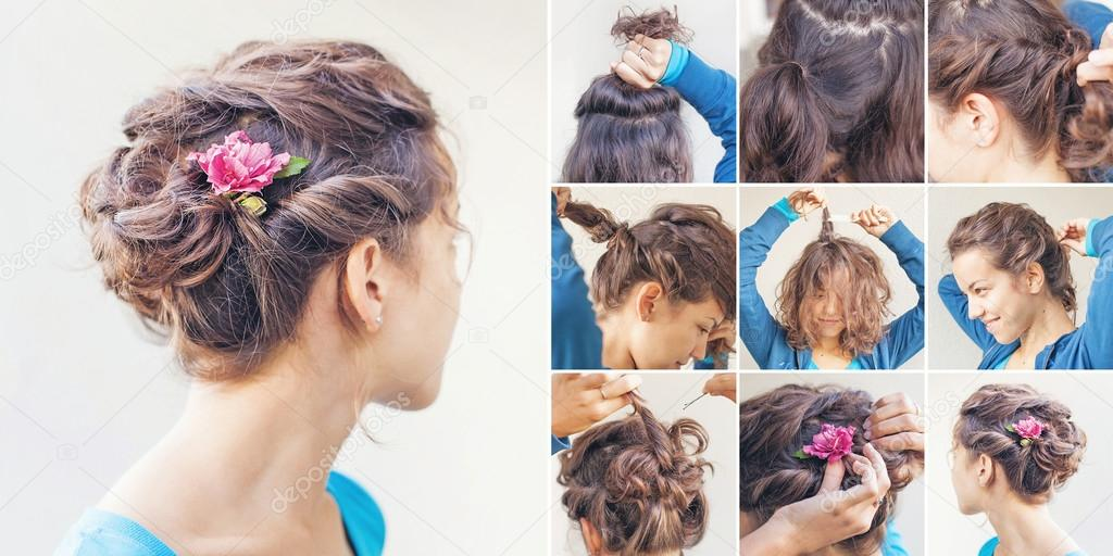 Curly updo tutorial