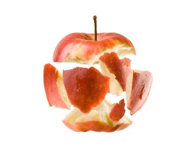Exploding fresh  apple