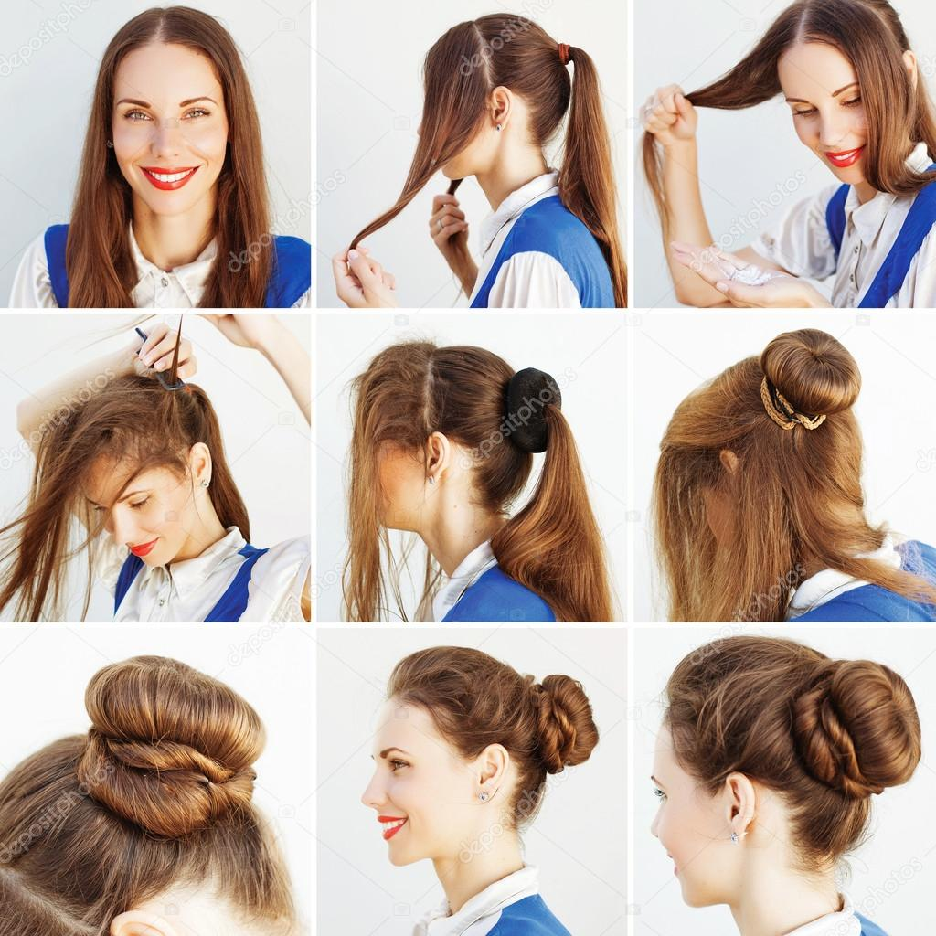 Woman doing hairstyle