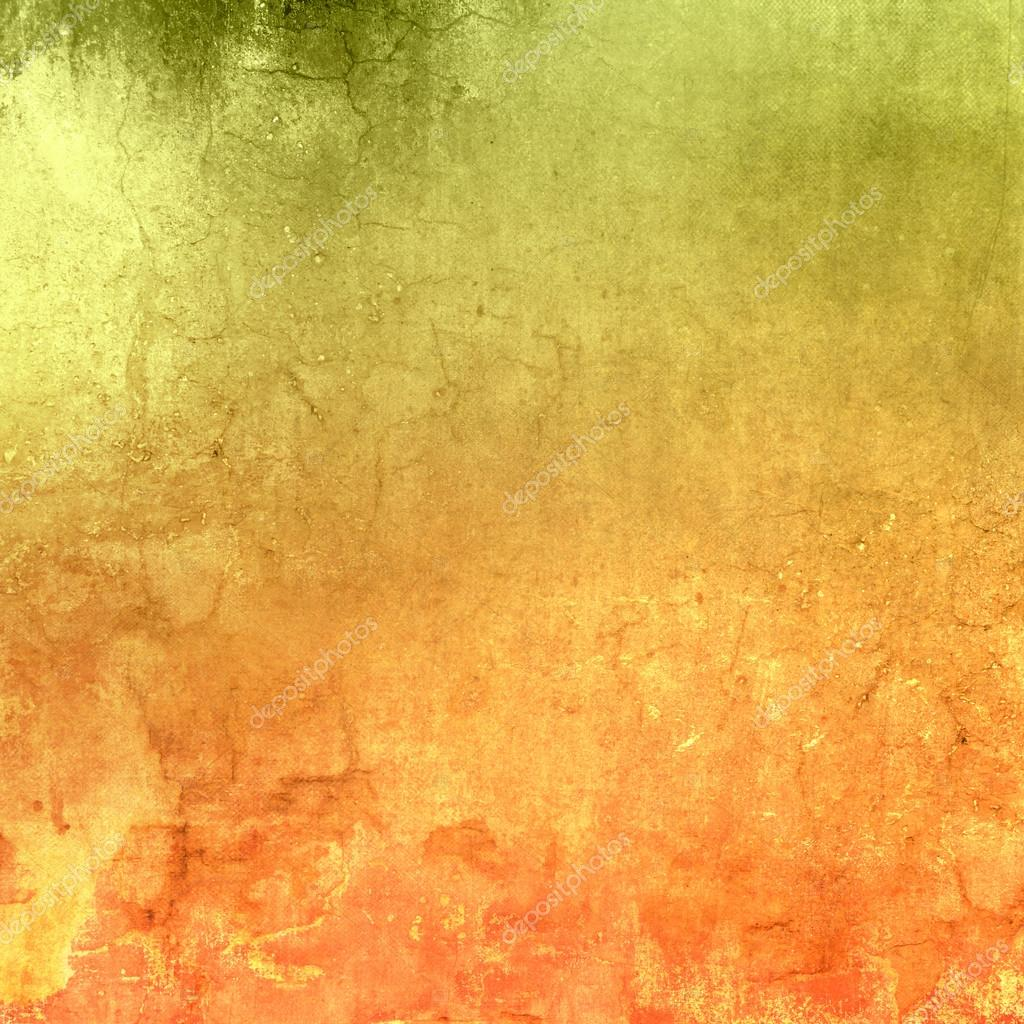 Green orange background gradient with grunge texture abstract