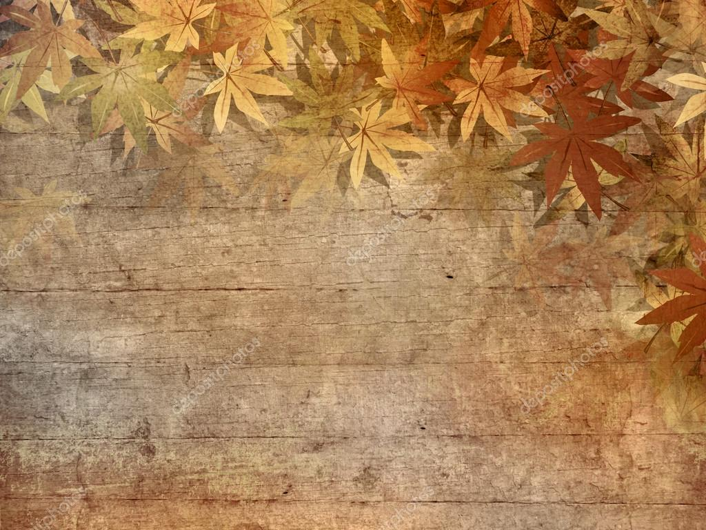 Autumn background - fall leaves