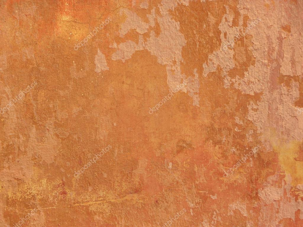Grunge Orange Wall Texture Terracotta Background Stock