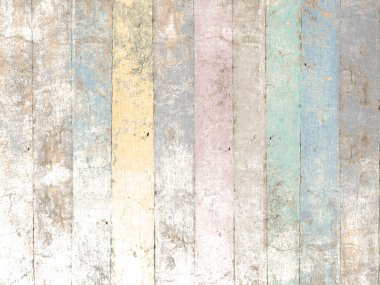Painted wood background with pastel colors in soft vintage style